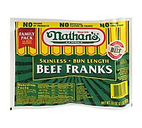 Nathans Famous Franks Beef Family Pack - 32 Oz