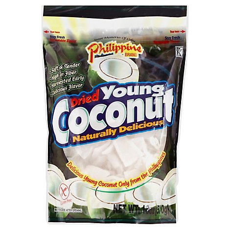 Philippine Brand Dried Young Coconut - 18 Oz