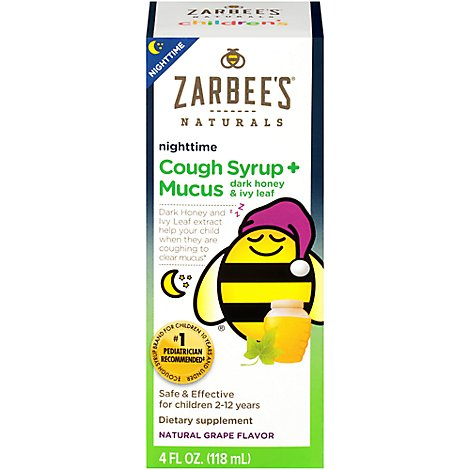 Childrens Nighttime Cough Syrup Grape Mucus - 4 Fl. Oz.
