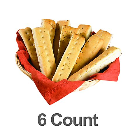 Bakery Breadsticks 10 Inch Garlic - 6 Count