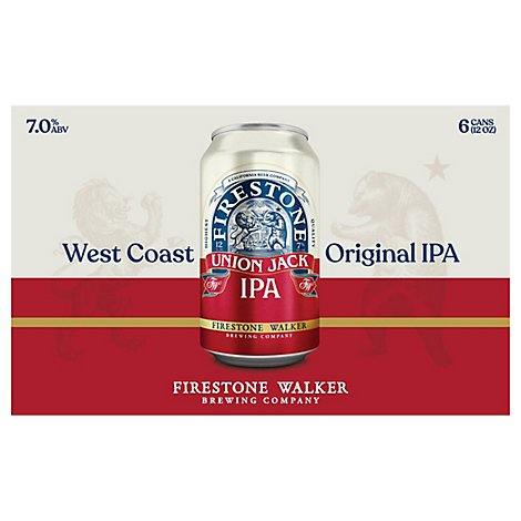 Firestone Union Jack Ipa 6pk In Cans - 6-12 Fl. Oz.