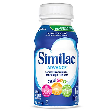 Similac Advance Infant Formula with Iron Ready To Feed - 6-8 Fl. Oz.