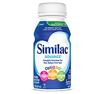Similac Advance Milk-Based Ready to Feed Infant Formula with Iron Stage 1 - 6-8 Fl. Oz.