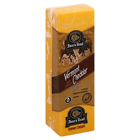 Boars Head Cheese Cheddar Vermont Yellow Pre-Sliced - 0.50 LB