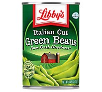 Libbys Green Beans Cut Italian - 14.5 Oz