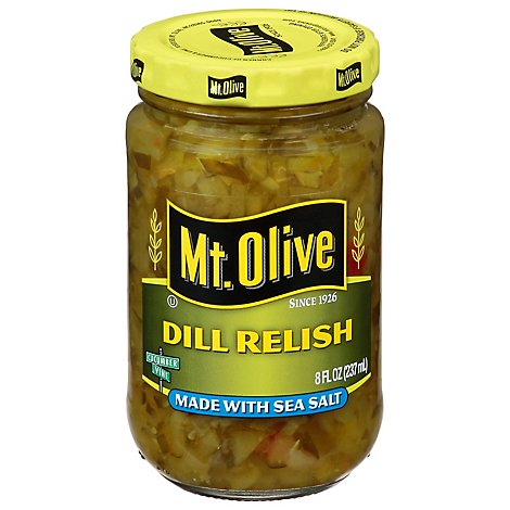 Mt. Olive Relish Dill Made with Sea Salt - 8 Fl. Oz.