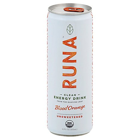 Runa Organic Clean Energy Drink Bloody Orange - 12 Fl. Oz.