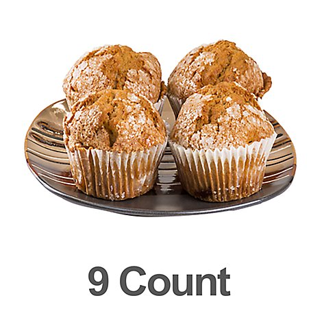 Bakery Muffins Pumpkin 9 Count - Each