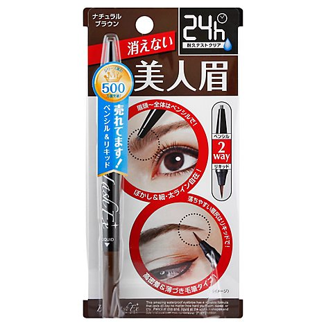 Eyebrow Pencil And Liquid Natural Brown - Each