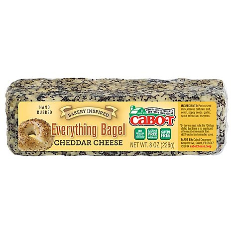Cabot Cheese Cheddar Everything Bagel - 8 Oz