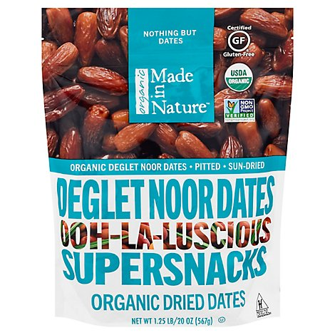 Made In Nature Organic Dried Deglet Noor Dates - 20 Oz.