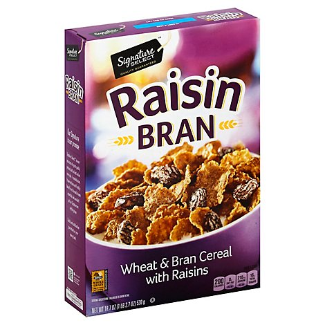 Signature SELECT Cereal Raisin Bran - 18.7 Oz