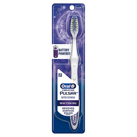 Oral-B Pulsar Whitening Battery Powered Toothbrush Soft - Each