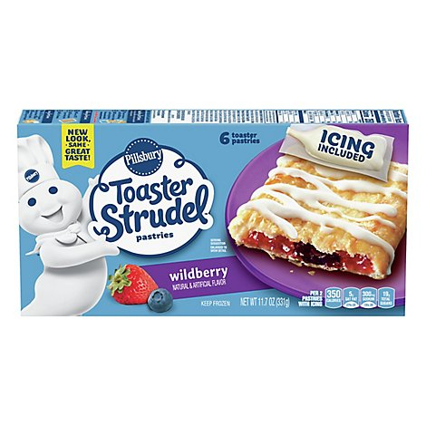 Pillsbury Toaster Strudel Pastries Wildberry 6 Count - 11.7 Oz