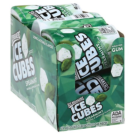 Ice Breakers Gum Ice Cubes Spearmint Sugar Free - 6-40 Pieces
