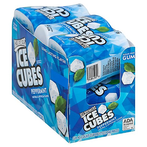 Ice Breakers Gum Ice Cubes Peppermint Sugar Free - 6-40 Pieces
