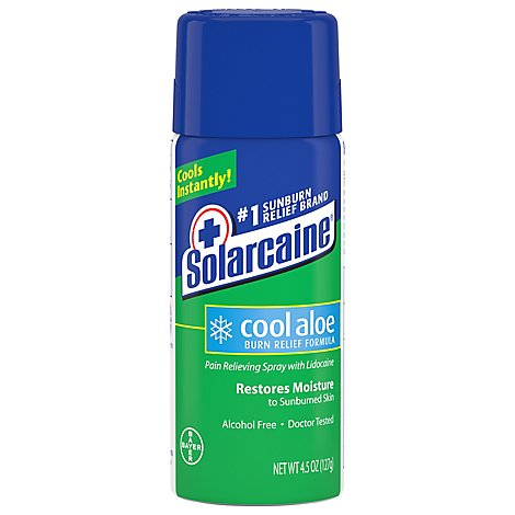 Solarcaine Burn Relief Formula with Lidocaine Spray Cool Aloe - 4.5 Oz