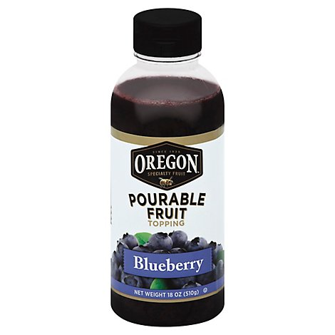 Oregon Fruit Topping Pourable Blueberry - 18 Oz