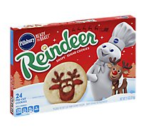 Pillsbury Ready To Bake! Shape Sugar Cookies Pre Cut Reindeer 24 Count - 11 Oz