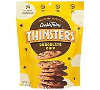 Mrs. Thinsters Cookie Thins Deliciously Crunchy Cookies Chocolate Chip - 4 Oz