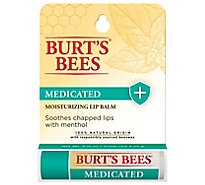 Burts Bees Lip Balm Medicated - 0.15 Oz