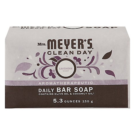 Mrs Meyers Clean Day Bar Soap Daily Lavender Scent - 5.3 Oz