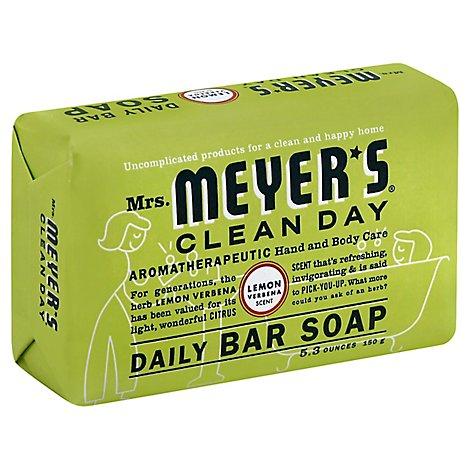 Mrs Meyers Clean Day Bar Soap Daily Lemon Verbena Scent - 5.3 Oz