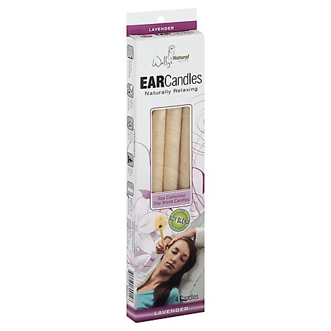 Wally Ear Candle Paraffin Lavender - 4 Count