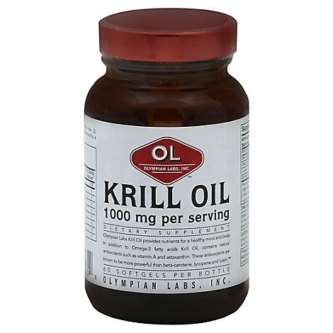 Olympian Labs Krill Oil 1000 mg Softgels - 60 Count