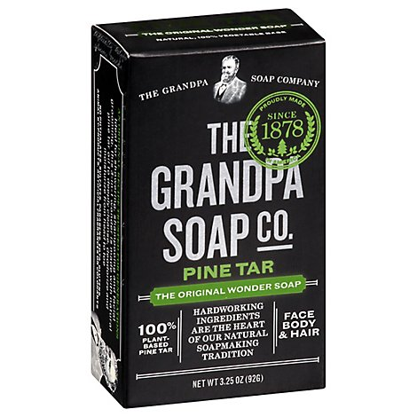 Grandpas Soap Pine Tar Wonder Original - 3.25 Oz