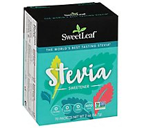 SweetLeaf Sweetener Natural Stevia 70 Count - 2.5 Oz