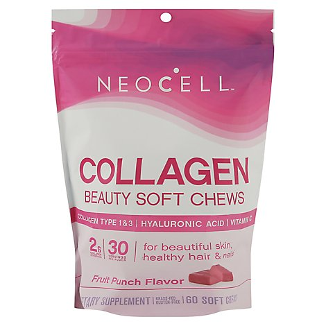 Ncell Collagen Sft Chw Frt Pnch - 60 Count
