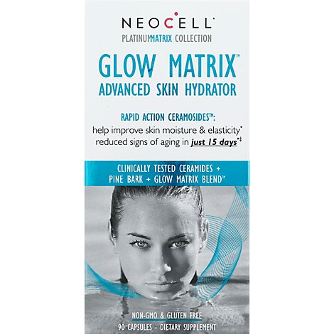 Neocell Platinum Matrix Collection Skin Hydrator Advanced Glow Matrix Capsules - 90 Count