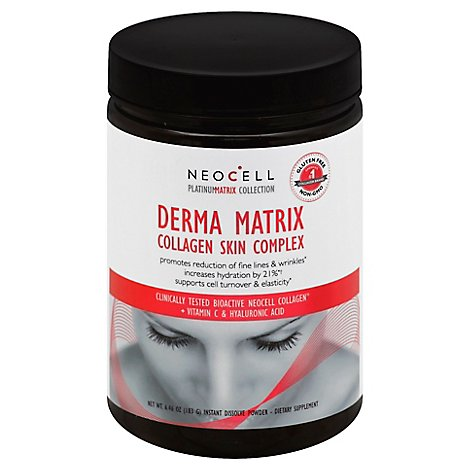 Neocell Platinum Matrix Collection Collagen Skin Complex Matrix Instant Dissolve Powder - 6.46 Oz
