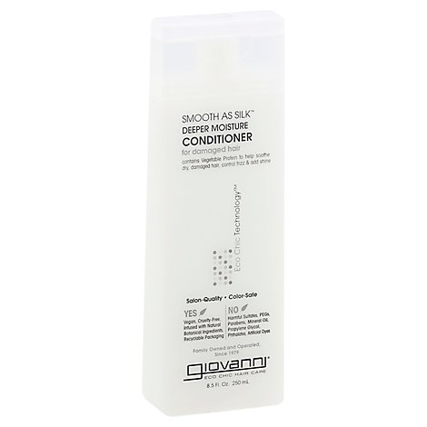 Giovanni Eco Chic Hair Care Conditioner Deeper Moisture Smooth As Silk for Damaged Hair - 8.5 Oz