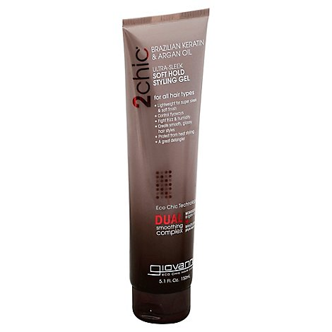 Giova 2chic Sleek Sylng Gel Sft Hold - 5.1 Oz