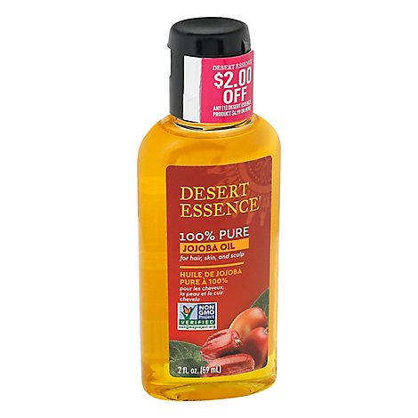 Desert Essence Jojoba Oil For Hair Skin & Scalp - 2 Oz