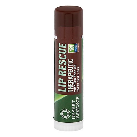 Desert Essence Lip Rescue with Eco - Harvest Tea Tree Oil - .15 Oz