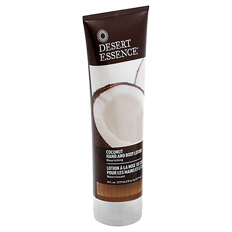 Desert Essence Lotion Hand and Body Coconut - 8 Oz