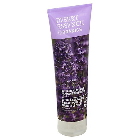 Desert Essence Organics Hand And Body Lotion Bulgarian Lavender - 8 Oz