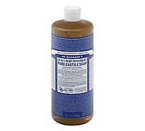 Dr. Bronners Liquid Soap Pure-Castile 18-In-1 Hemp Peppermint - 32 Fl. Oz.