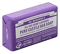 Dr. Bronners Bar Soap Pure-Castile All-One Hemp Lavender - 5 Oz