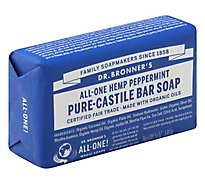 Dr. Bronners Bar Soap Pure-Castile All-One Hemp Peppermint - 5 Oz