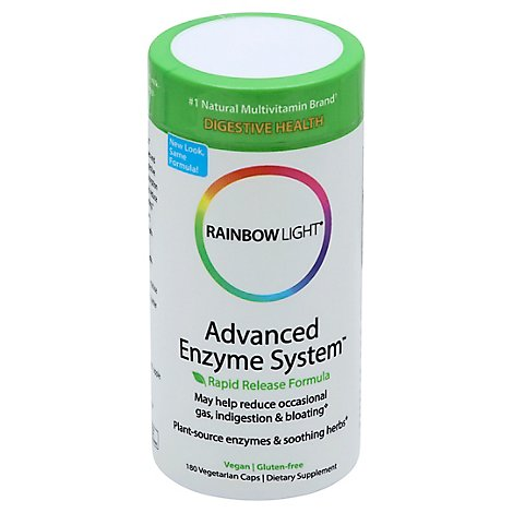 Rainbow Light Enzyme System Advanced Vegetarian Caps - 180 Count