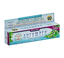 Auromere Toothpaste Ayurvedic Herbal Mint-Free - 4.16 Oz