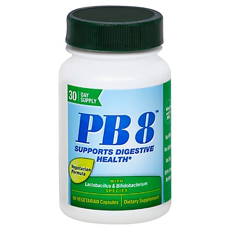 Nutrition Now PB8 Dietary Supplement Capsules Vegetarian Formula Vegetarian - 60 Count