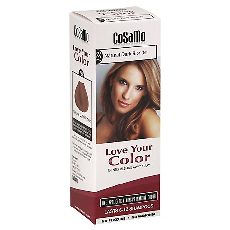 Cosamo Love Your Color Non-Permanent Color Blonde Natural Dark 738 - 12 Oz