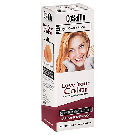 Cosamo Love Your Color Non-Permanent Color Blonde Light Golden 772 - 12 Oz
