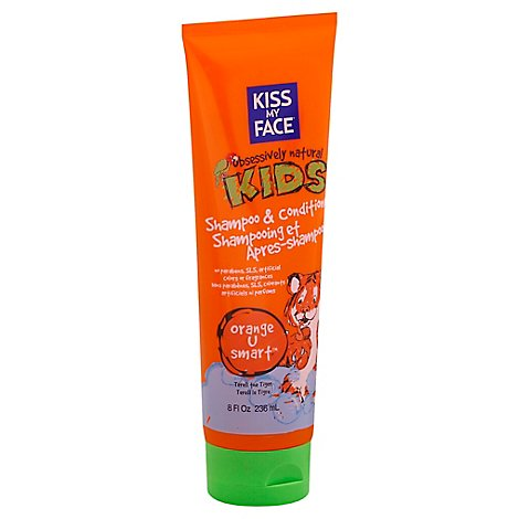 Kiss My Face Obsessively Natural Kids Shampoo & Conditioner Orange U Smart - 8.0 Oz