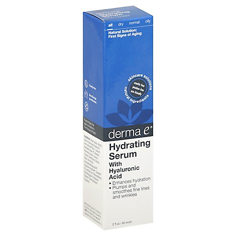 Derma E Hydrating Serum With Hyaluronic Acid All - 2 Oz